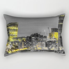 London in Monochrome and Yellow Rectangular Pillow