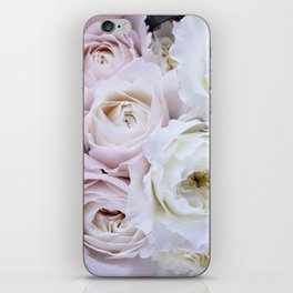 Pastel Pink Flowers iPhone Skin