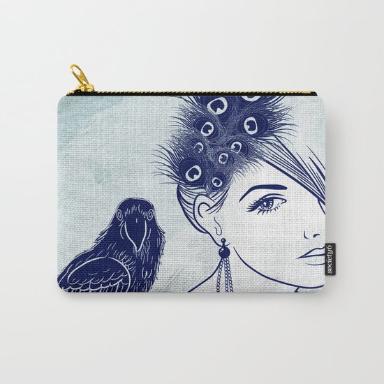 Parrot Girl Carry-All Pouch
