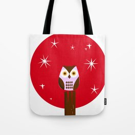 Owl ( alternative red version) Tote Bag
