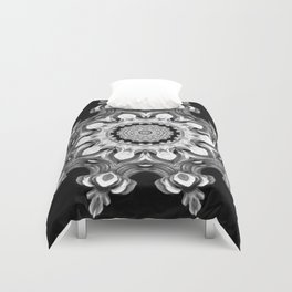 Black-and-White Abstract 25 Duvet Cover