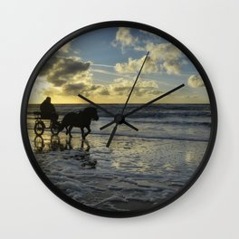sunset on texel Wall Clock