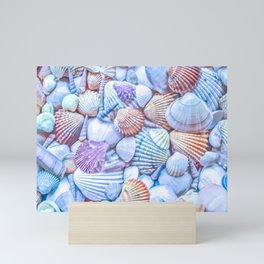 Seashells Everywhere Mini Art Print