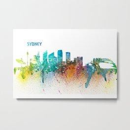 Sydney Australia Skyline Impressionistic Splash Metal Print