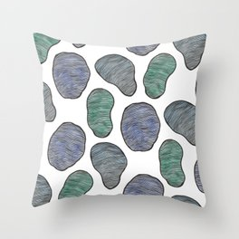 Color Spots Throw Pillow