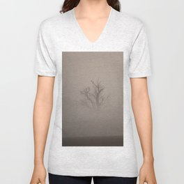 Two Hawks and a Morning Haze Unisex V-Neck