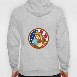 American Handyman USA Flag Icon Hoody