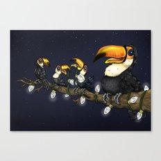 Christmas Toucans Canvas Print
