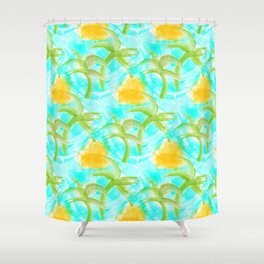 Tropical Abstract Shower Curtain