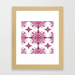 Rosy mandala glam Framed Art Print