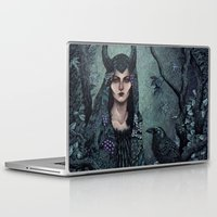 maleficent Laptop & iPad Skins featuring Maleficent by Angela Rizza
