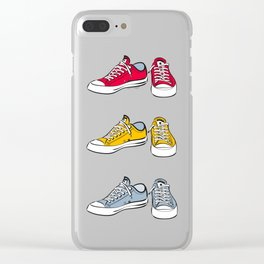 Yellow Sneakers Clear iPhone Case