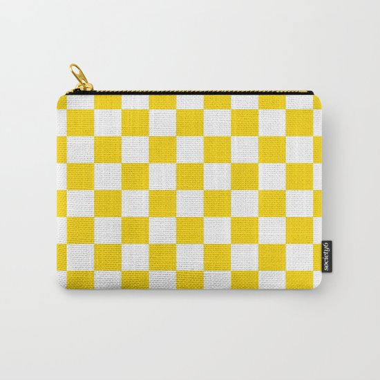 Checker (Gold/White) Carry-All Pouch