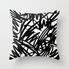 Bold scribble pattern Throw Pillow