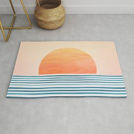 Morning in Paradise ~ Tropical Sunrise Rug