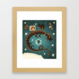 Space Dragon Framed Art Print