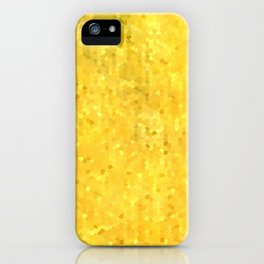 Gold Shimmer Mosaic iPhone Case
