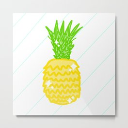 Pretty Pineapple Metal Print