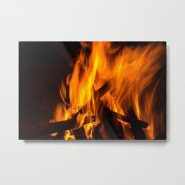 Wood fire Metal Print