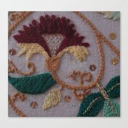 Elizabethan Embroidery Carnation Canvas Print