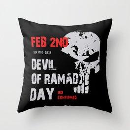 Devil of Ramadi Throw Pillow