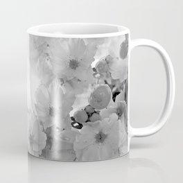 CHERRY BLOSSOMS GRAY AND WHITE Coffee Mug