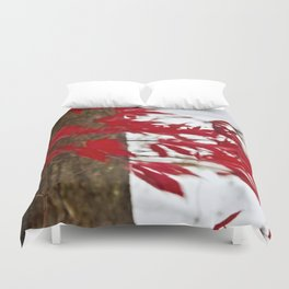 like a river of red Duvet Cover