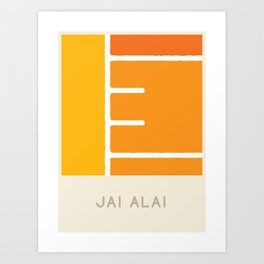 Jai Alai (Sports Surfaces Series, No. 13) Art Print