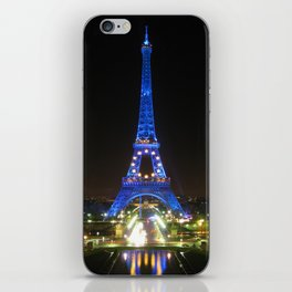 Scenic Eiffel Tower at Night iPhone Skin