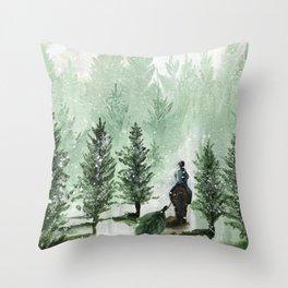The Tree Farm Throw Pillow