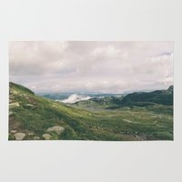 norway Area & Throw Rugs featuring Norway Panorama by see BOLD