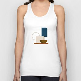 Abstrato 01 // Abstract Geometry Minimalist Illustration Unisex Tank Top