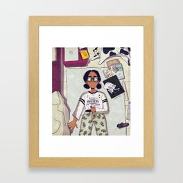 Laying there Framed Art Print