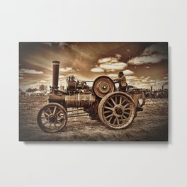 Jem General Purpose Engine in sepia Metal Print