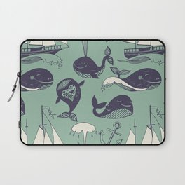 funny whales Laptop Sleeve