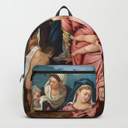 "Tintoretto (Jacopo Robusti) ""Holy Family with Saint John the Baptist,..., Elisabeth and Catherina"" Backpack"