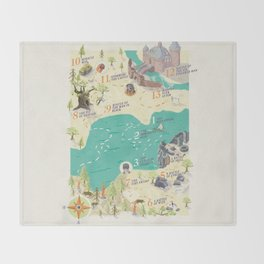 Princess Bride Discovery Map Throw Blanket