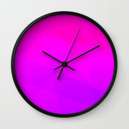 Pinkish Purple Wall Clock