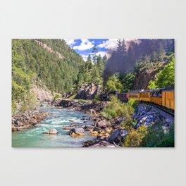 Durango Silverton Colorado Train Along the Animas River Canvas Print