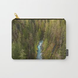 RIVER IN THE MIDDLE OF FOREST DURING DAYTIME Carry-All Pouch