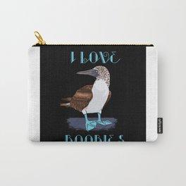 BLUE-FOOT BOOBIE BIRD: I Love Boobies Gift Carry-All Pouch