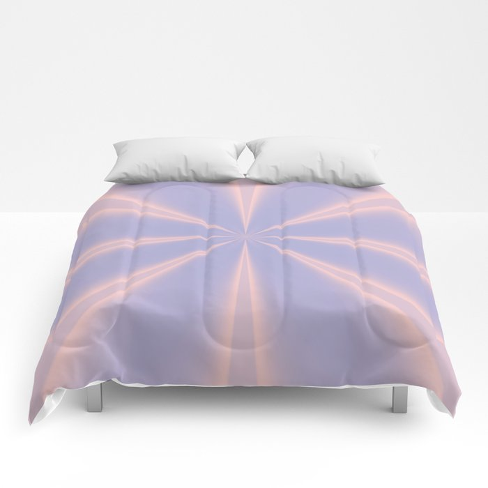 Fractal Pinch in Rose Quartz and Serenity Comforters