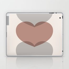 Hearts - Cocoa & Gray Laptop & iPad Skin
