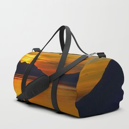 Alaskan Sunset Silhouette - Turnagain Arm Duffle Bag
