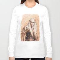 thranduil Long Sleeve T-shirts featuring thranduil oropherion by LindaMarieAnson