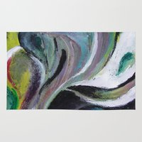 reassurance Area & Throw Rugs featuring Art print- swirl by Magdalena Hristova