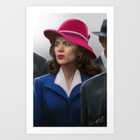 agent carter Art Prints featuring Agent Carter by DandyBee