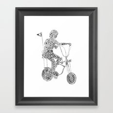A boy's thing Framed Art Print