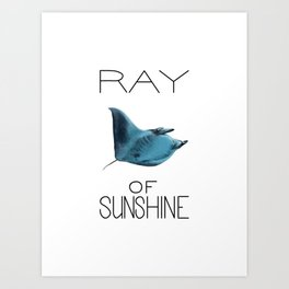 Ray of Sunshine (Manta Ray) Art Print