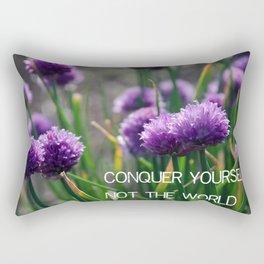 Conquer Yourself Rectangular Pillow